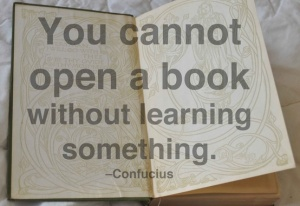Confucius You cannot open a book