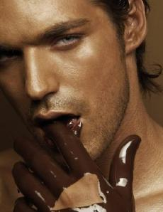 Hot guy with Chocolate